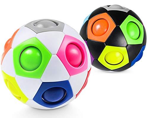 Lucky Humans® -Premium Regenbogenball- Geschicklichkeitsspiel für Kinder und Erwachsene – Mitgebsel für...