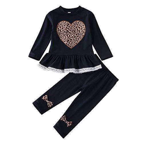 Geagodelia Kinder Kleidung Set Mädchen Kleidung Langarm Shirt Tunika + Legging Hose 1-6 Jahre Kleinkinder...