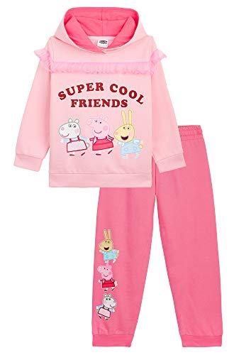 Peppa Pig Trainingsanzug Mädchen, Peppa Wutz Zweiteilige Jogginganzug 100% Baumwolle, Jogginghose und...