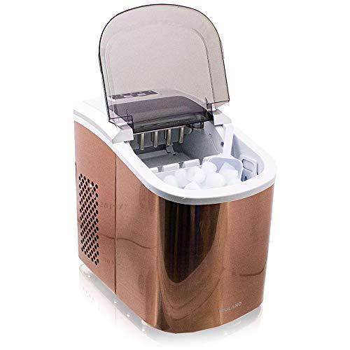 Eiswürfelmaschine Edelstahl Eiswürfelbereiter Eiswürfel Ice Maker Eis Maschine Icemaker (Kupfer)