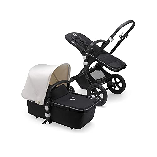Bugaboo Cameleon 3 Plus, 2-in-1 Erstlings- und Kinderwagen, Gestell in schwarz und Sonnenverdeck weiß