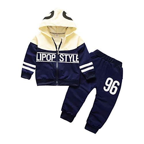 Bornbayb Hoodie 2er Set mit Hose 6-12 Monate 1-4 Jahre alt Body Overall Kleidung