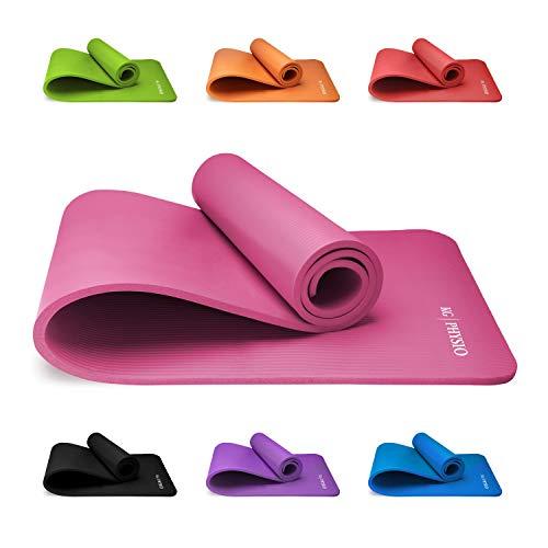 Premium Yogamatte, Sportmatte, Gymnastikmatte, Fitnessmatte, Trainingsmatte oder zuhause mit Schultertragegurt...