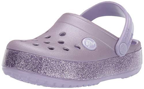 Crocs Unisex-Kinder Crocband Glitter Kids Clogs, Violett (Lavender 530), 32/33 EU