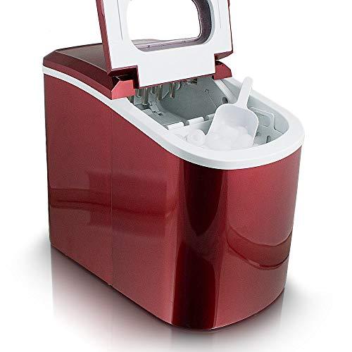 ms-point Eiswürfelmaschine, Eiswürfelbereiter, Icemaker in ROT