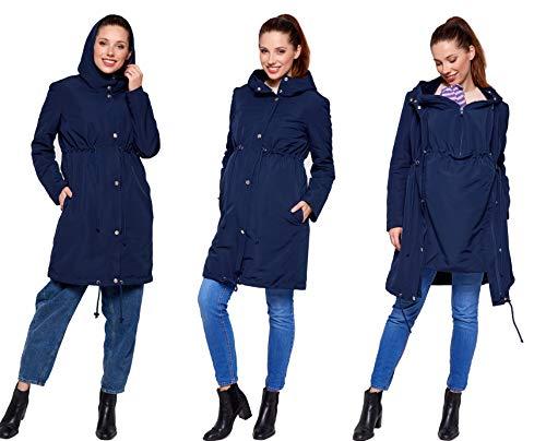 Be Mama - Maternity & Baby wear 3in1 - Winter Tragemantel & Umstandsjacke & Damenjacke Parka in einem,...