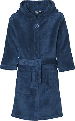 Playshoes Unisex Kinder Fleece-bademantel Uni Bademantel, Blau (Marine 11), 122-128 EU