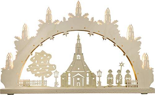 weigla Schwibbogen/Lichterbogen'Seiffener Kirche' 7 flammig Erzgebirge garantiert