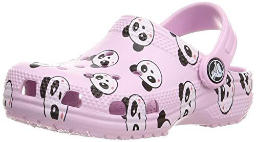 Crocs Unisex-Kinder Classic Panda Print Clog Holzschuh, Ballerina Pink, 21 EU