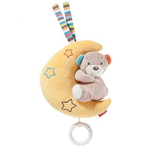 Baby-Nova Spieluhr Mond mit Teddy Bär, Einschlafhilfe für Babys, Musikspieluhr Brahms Wiegenlied,...