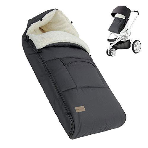 BeebeeRun Babyfußsack Baby Fußsack Babyschale Kinderwagen Buggy Winter fußsack Baby Schlafsack Winter...