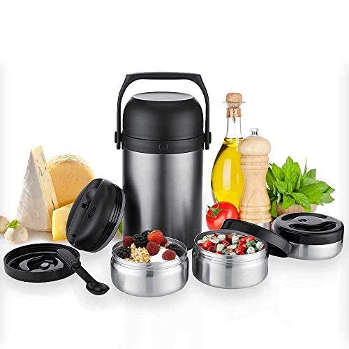 """Kaave Thermobehälter Warmhaltebox """"bigJar 1,8 L - Hochwertiger Isolierbehälter Box für Warme Speisen,..."""