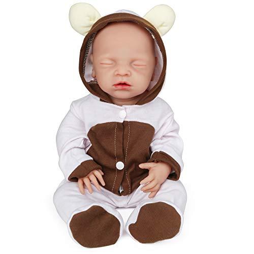 Vollence Reborn Baby Puppe - handgemacht und gänzlich aus Silikon für Kinder ab ca. 3 Jahre