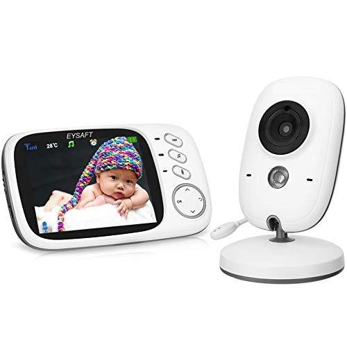 Babyphone 3.2 Zoll Babyphone mit Kamera Video Überwachung Smart Baby Monitor TFT LCD Digital dual Audio...
