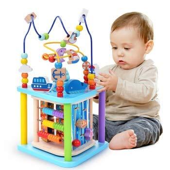 Baobë Holzwürfel Spielzeug für Kinder Motorikwürfel Holzspielzeug Pädagogische Perle Labyrinth für...