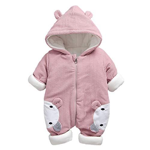 DorkasDE Baby Strampler Junge Mädchen Overall Jumpsuit Winter Babykleidung mit Kapuze