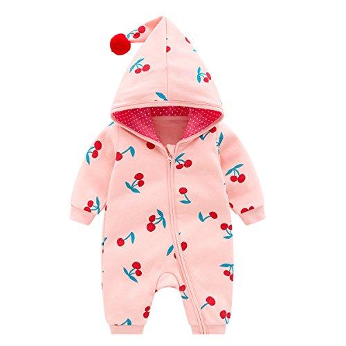 Bebone Baby Mädchen Strampler Herbst Winter Babybekleidung (Rosa, 3-6 Monate/59)