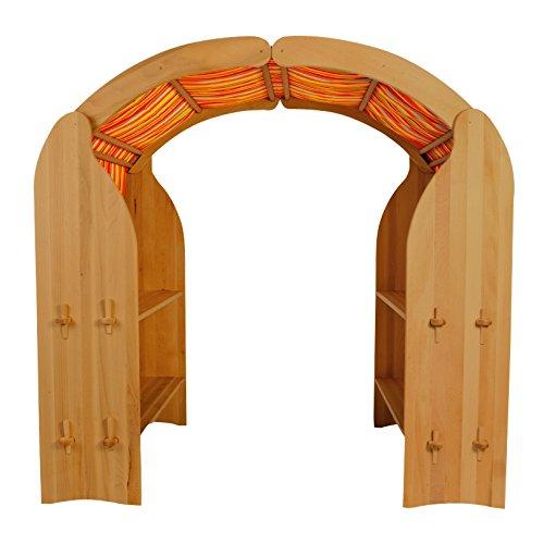 Holzspielzeug-Peitz Kinder-Spielständer 1011G - Zapfenverbindung - Massiv-Erlen-Holz - Kaufladen