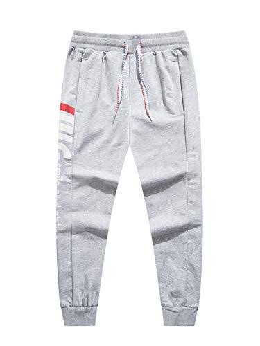 LAUSONS Junge Streetwear Sporthose Kinder Jogginghose Sweathosen, Grau, Größe 120/4-5 Jahre