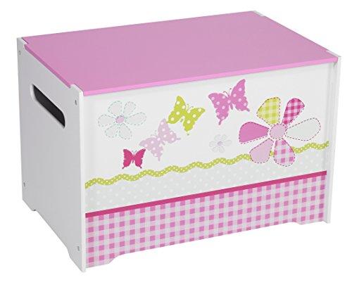 Schmetterlinge und Blumen - Spielzeugkiste für Kinder – Aufbewahrungsbox für das Kinderzimmer