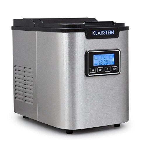 Klarstein Icemeister - Eiswürfelbereiter, Eiswürfelmaschine, Ice Maker, 12 kg / 24 h, 3 Würfelgrößen,...
