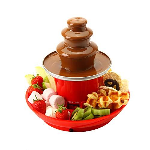 Global Gourmet Schokoladenbrunnen Mini-Fondue-Set mit Party Serviertablett im Lieferumfang enthalten |...