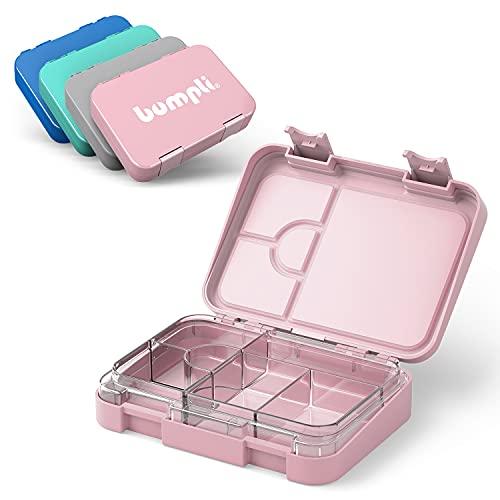 Bumpli® Kinder Brotdose mit Fächern - kinderfreundliche Verriegelung mit Klick-Verschluss - Lunchbox, Bento...