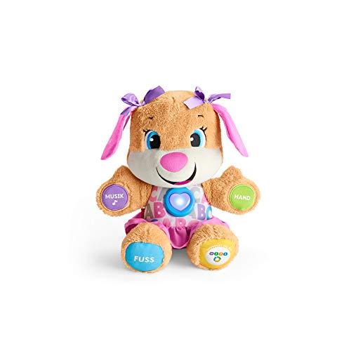 Fisher-Price FPP53 - Lernspaß Hundefreundin Baby Spielzeug und Plüschtier, Lernspielzeug mit Liedern und...