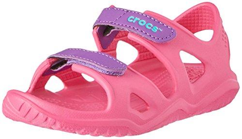 Crocs Unisex-Kinder Swiftwater River Sandalen,Pink (Paradise Pink/Amethyst 60o), 27/28 EU