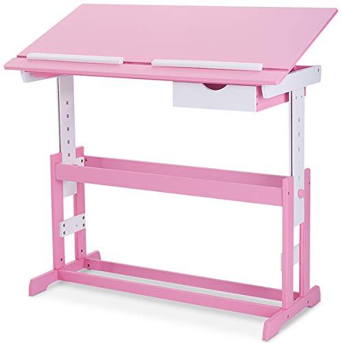 COSTWAY Kinderschreibtisch Kindermöbel Kinderzimmer Kindertisch Schreibtisch Schnülerschreibtisch...