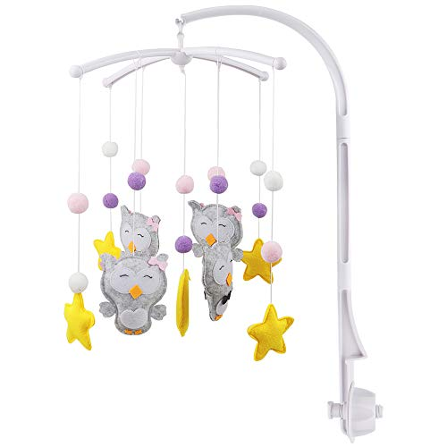 Fengzio Mobile halterung mit Spieluhr für babys mobile halter halterung für mobile baby mobile halterung...