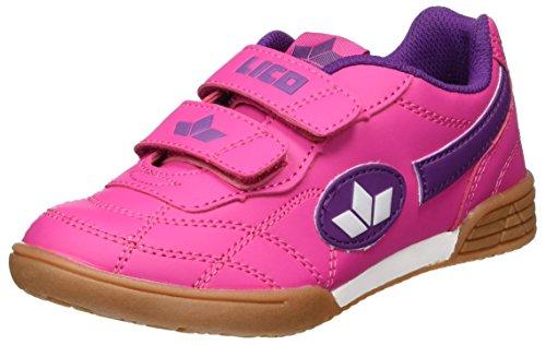 Lico Bernie V Mädchen Multisport Indoor Schuhe, Pink/ Lila/ Weiß, 37 EU