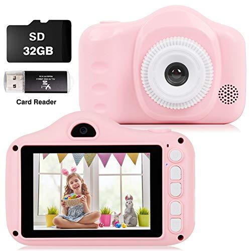 CKATE Kinderkamera Toys Digitale Selfie-Kamera mit Zwei Objektiven für 3-10-jährige Kinder...