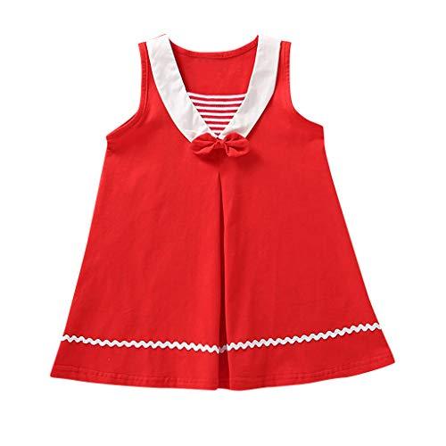 Julhold Kleinkind Kinder Baby Mädchen Lässig Niedlich Fliege Gestreift Lässig Prinzessin Dünnes Kleid...
