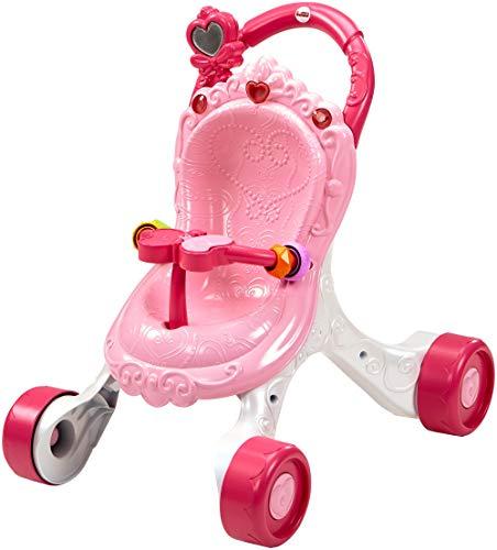 Fisher-Price CGN65 - Princess Mommy Musikspaß Puppenwagen und Baby Lauflernhilfe mit Spielzeug, Gehhilfe ab 9...