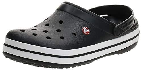 Crocs Unisex-Erwachsene Crocband Clogs, Schwarz (Black/White), 39/40 EU