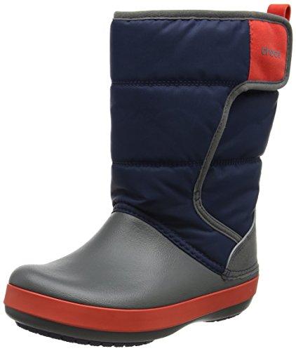 Crocs Unisex-Kinder LodgePoint Snow Boot K Schneestiefel, Blue (Navy/Slate Grey), 25/26