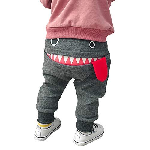 i-uend Baby Pants - Baby Kinder Kinder Jungen Mädchen Cartoon Shark Zunge Harem Hosen Hosen Hosen für 0-3...