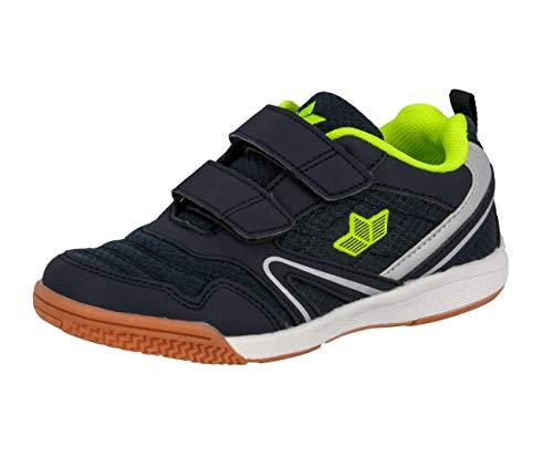 Lico BOULDER V Multisport Indoor Schuhe Unisex Kinder, Marine/ Lemon, 40 EU
