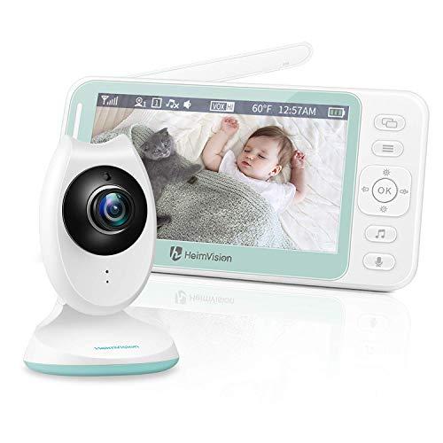 HeimVision Babyphone mit Kamera, 4,3'' LCD Babyphone Video Baby Monitor mit Nachtsicht, Baby Überwachung mit...