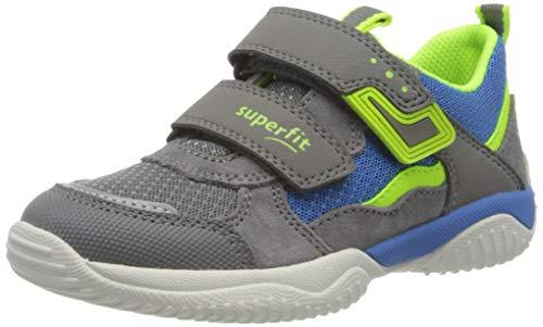 Superfit Jungen STORM Sneaker, Grau (Hellgrau/Gelb 25), 31 EU