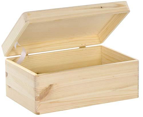 LAUBLUST Holzkiste mit Deckel - 30x20x14cm, Natur, FSC® - Aufbewahrungskiste | Erinnerungsbox | Bastel- &...