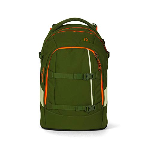 satch Pack Green Phantom, ergonomischer Schulrucksack, 30 Liter, Organisationstalent, Grün