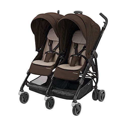 Maxi-Cosi Dana For zwei Zwillingskinderwagen, kompakter Geschwisterwagen, nutzbar ab der Geburt bis 3,5 Jahre...