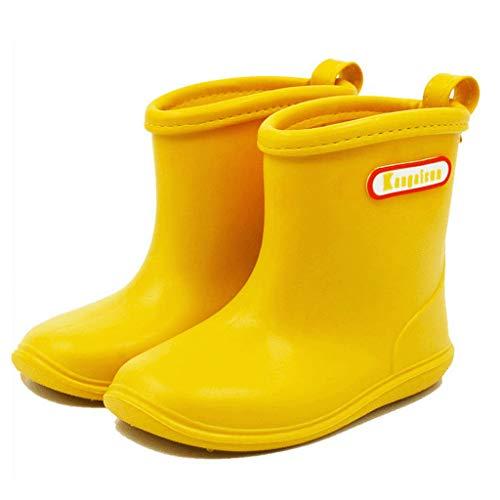 BAIYOU Kinder Gummistiefel Kinderschuh Baby Wasserdicht Schuhe (Alter 2-6 Jahre)