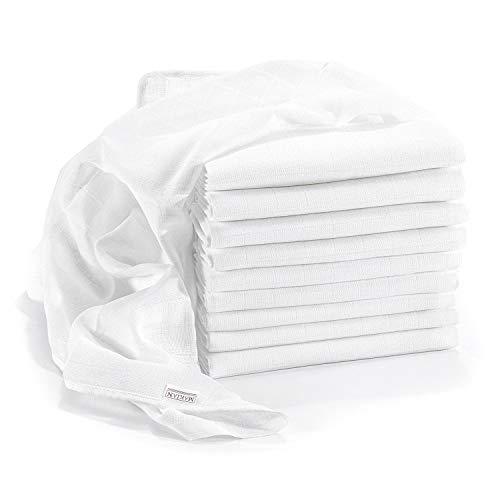 Mullwindeln/Spucktücher - 10er Pack, 80x80 cm, ÖKO-TEX zertifizierte Premium Qualität - doppelt gewebte...
