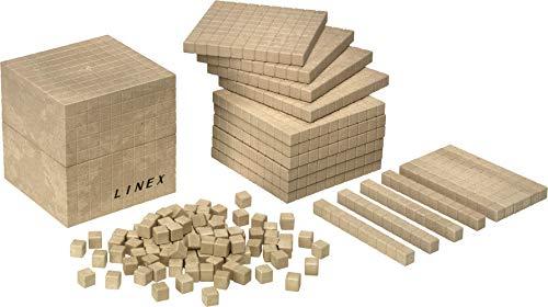 LINEX 400065105 Lern-Set Basisset 'Zählen und Rechnen' Dezimalsystem 121 Teile,Rechenwürfel aus recyceltem...