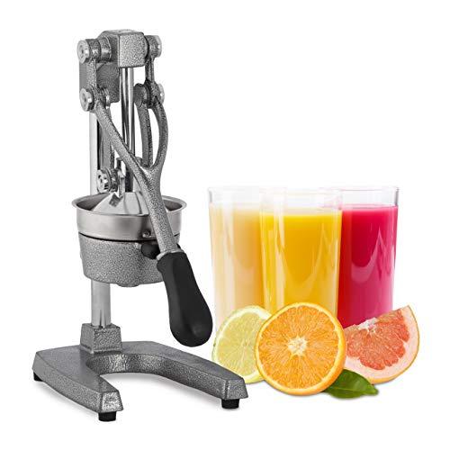 Relaxdays Saftpresse manuell, XL Orangenpresse, professionelle Fruchtpresse, Premium Zitruspresse,...