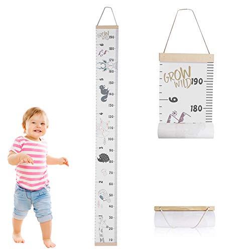Zerodis Kinder Messlatten Kinder Höhe Maßnahme Wachstumstabelle Tragbare Nette Wandaufkleber Home...