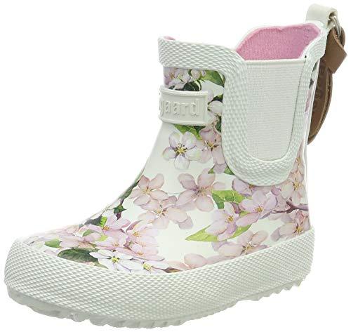 Bisgaard Mädchen Rubber Boot Baby Gummistiefel, Pink (Creme-Flowers 171), 27 EU